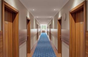 Hotelflur des Oranien Hotel & Residences Wiesbaden