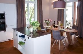 Wohnküche im Superior Apartment des Oranien Hotel & Residences Wiesbaden