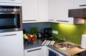 Studio Apartment mit Küche im Oranien Hotel & Residences Wiesbaden