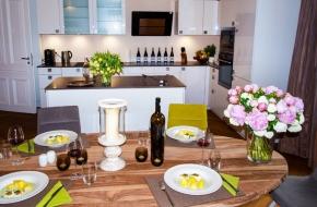 Küche im Superior Apartment des Oranien Hotel & Residences Wiesbaden