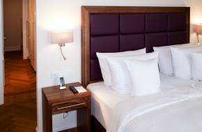 Schlafzimmer im Komfort Apartment im Oranien Hotel & Residences Wiesbaden