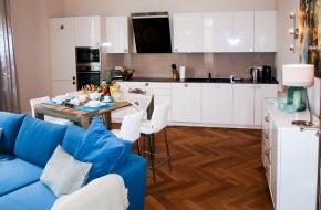 Wohnzimmer im Komfort Apartment im Oranien Hotel & Residences Wiesbaden