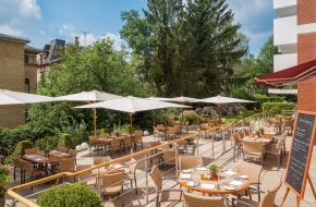 Terrasse im Restaurant Linner im Oranien Hotel & Residences Wiesbaden 2